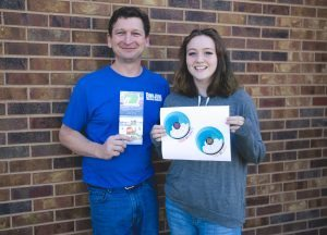 Tour des Lakes T-Shirt Contest Winner Wynter Rhodes & Teacher Bill Eby