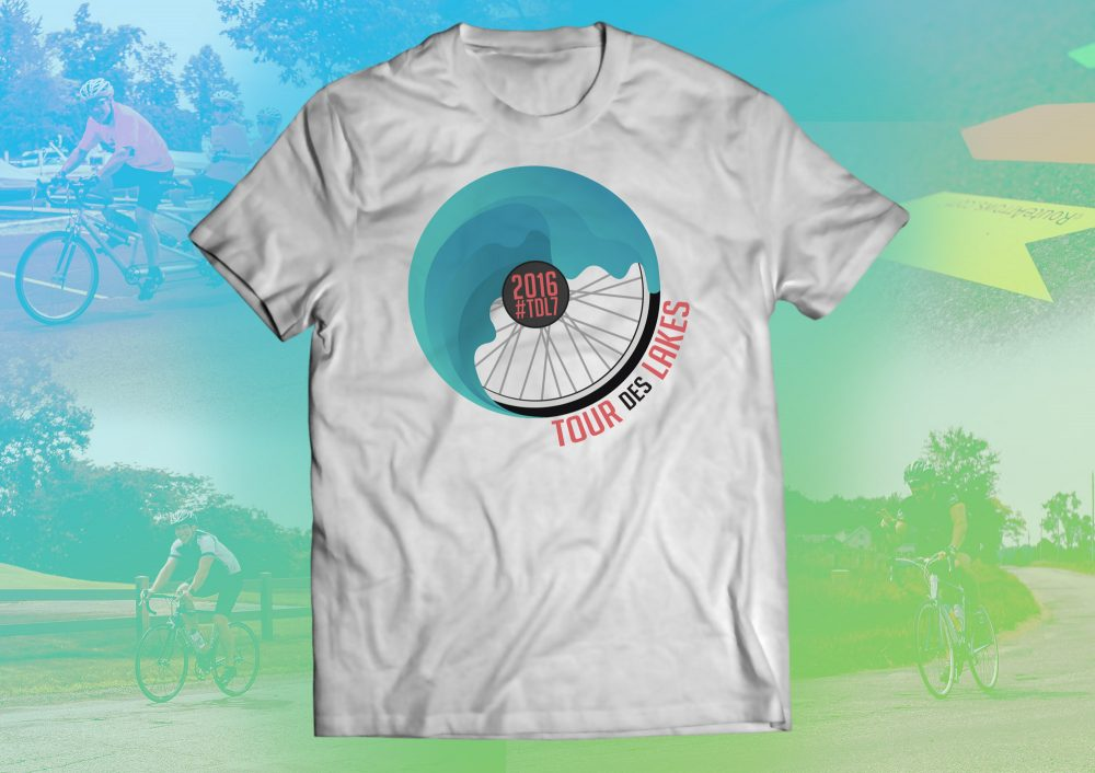 Tour des lakes 2016 t shirt mockup web - tour des lakes - tour on your bike 8 beautiful lakes including syracuse, wawasee, north webster, winona and more